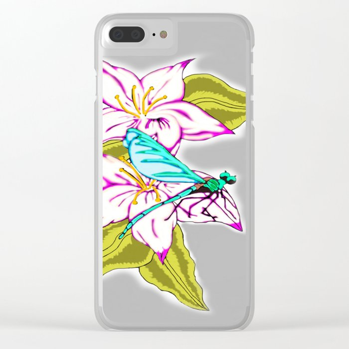 Dragonfly Escape Clear iPhone Case