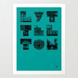 Missing buildings of Lyttelton Art Print