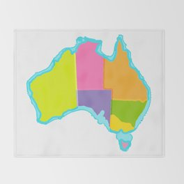 Politically Australia Throw Blanket