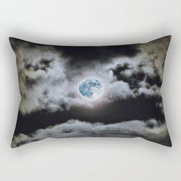 Blue Moon I Wonder Rectangular Pillow