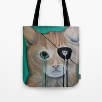 kit king Tote Bags featuring Kit Furry by Prince Pat