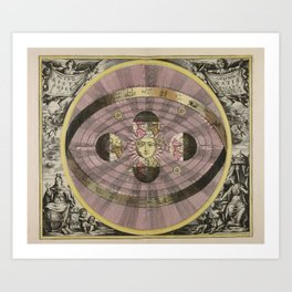 Scenograpy of the Earth and Heavens, as According to Copernicus, 1708 Art Print