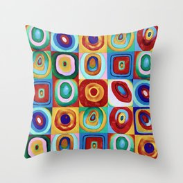 Colorful circles tile Throw Pillow