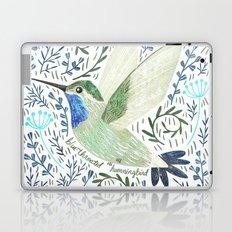 Blue-Throated Hummingbird Laptop & iPad Skin