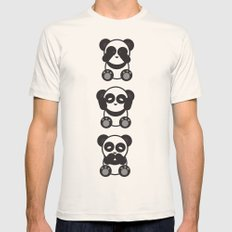 Panda Mantra Mens Fitted Tee Natural SMALL