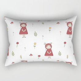 Little Red Riding Hood Girl with Antlers Rectangular Pillow