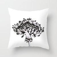 dandelion Throw Pillows featuring Dandelion by ECMazur