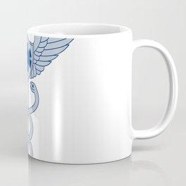 Caduceus With Pilot Wings EMT Star Icon Coffee Mug