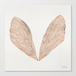 Cicada Wings in Rose Gold Canvas Print