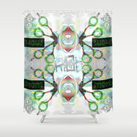 holographic Shower Curtains featuring SCISSOR DREAM by Riot Clothing
