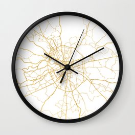 MOSCOW RUSSIA CITY STREET MAP ART Wall Clock