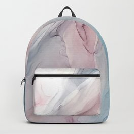 Calming Pastel Flow- Blush, grey and blue Backpack
