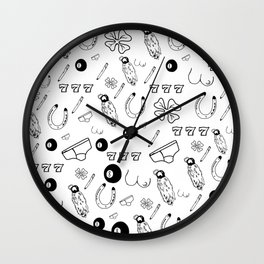 Get Lucky Wall Clock