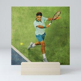 Roger Federer Tennis Backhand Mini Art Print