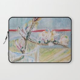 Almond blossoms in the glass Laptop Sleeve