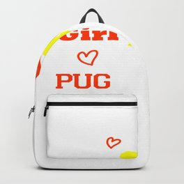 This Girl Loves Her Pug Dog Breed Puppy Backpack