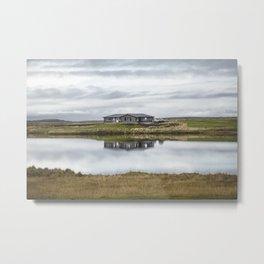 Reflection of Iceland. || Travel Shots. || Symmetry. || Blues Sky. || MadaraTravels Metal Print