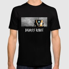Badass Robot Mens Fitted Tee Black X-LARGE
