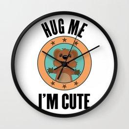 Quokka Australia Kangaroo Marsupial Hug Me Gift Wall Clock