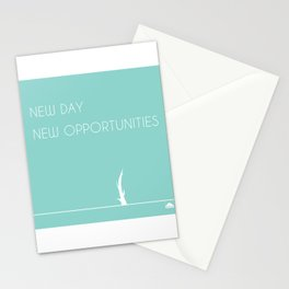 New Day, New Opportunities - Green Stationery Cards