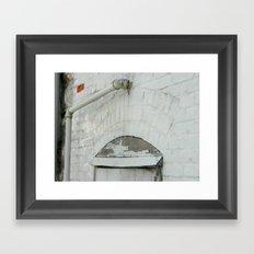 Red Brick Framed Art Print