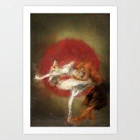 Kitsune Ballet Art Print