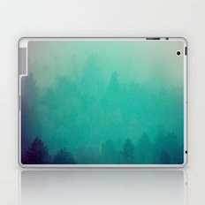 Foggy Forest - Vintage Green Fir Trees in California Laptop & iPad Skin