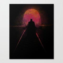 Bat-man: The dark hero Canvas Print