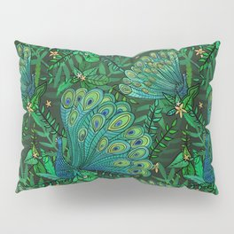 Peacocks in Emerald Forest Pillow Sham