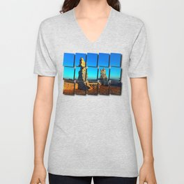 Taking a rest at the ruin | architecture photography Unisex V-Neck