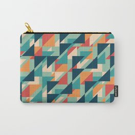 Abstract geometric background. Retro overlapping triangles. Carry-All Pouch