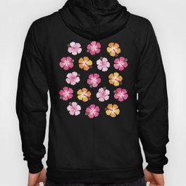 CANDY COLORED HIBISCUS on NAVY Hoody