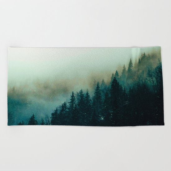 Foggy Magic Beach Towel