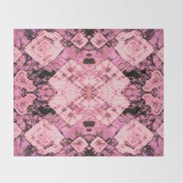 Pink Silk Tie-Dye Throw Blanket
