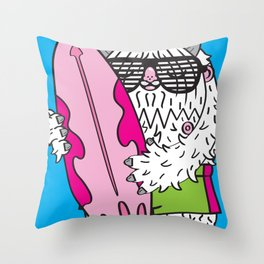 SeaSquatch Throw Pillow
