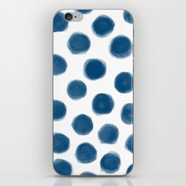 blue polka dots iPhone Skin