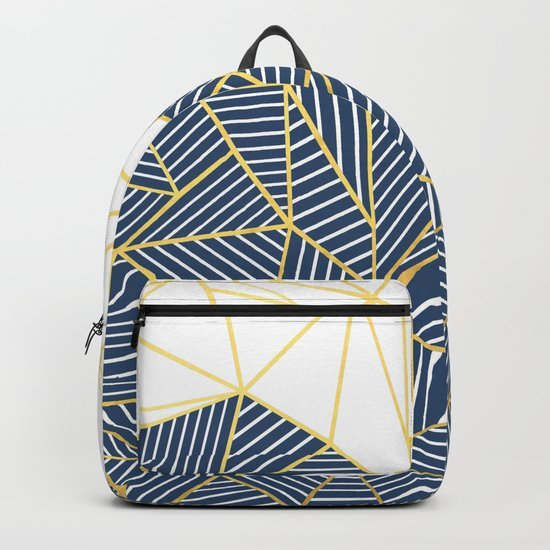 Ab Half and Half Navy Gold Backpack