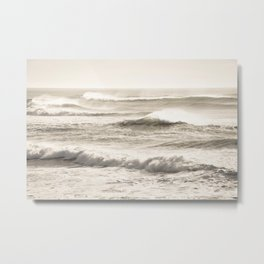 Windswept Waves Metal Print