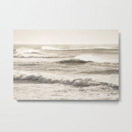 Windswept Waves Metal Print
