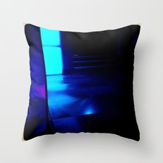 Blue Ship Throw Pillow