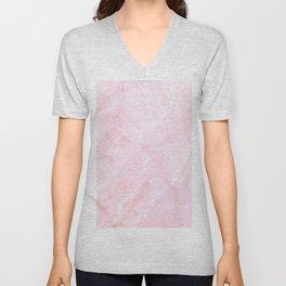 Sugar Pink Marble Unisex V-Neck