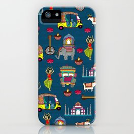 Mobile Blue iPhone Case
