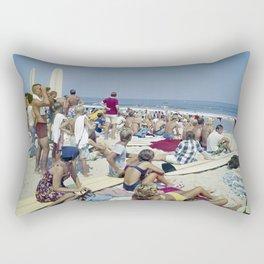 1970's Surfing Competition in Virginia Beach, VA Rectangular Pillow