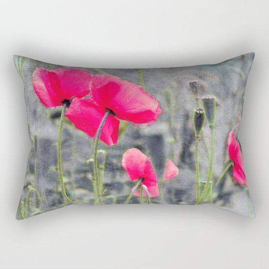 Poppies(mist)2. Rectangular Pillow