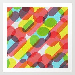 Bubble Burst Pattern Art Print