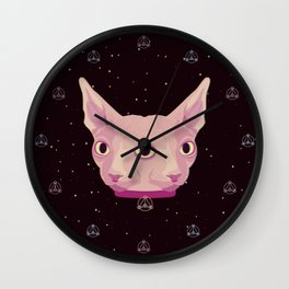 Two-Faced Sphynx From Outer Space Wall Clock
