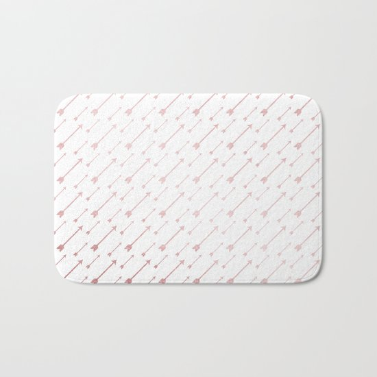 Simply Arrows in Rose Gold Sunset Bath Mat