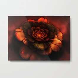 Neon Flower Metal Print