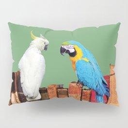 books macaw cockatoo green Pillow Sham