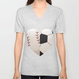 Soccer Baseball Heart Mom - Mothers Day Gifts Unisex V-Neck